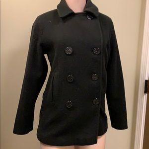 Jackets & Blazers - Navy Wool Pea Coat